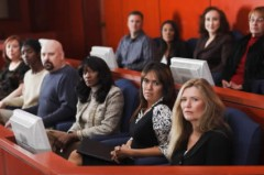 Jury in courtroom